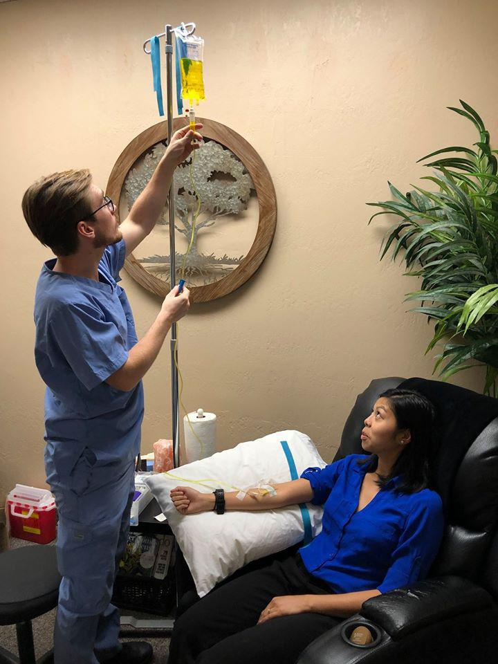 Phoenix Anti-Aging Clinic doctors utilizing IV nutrient therapy for flu prevention.